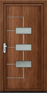 drzwi przeciwpożarowe brązowe
