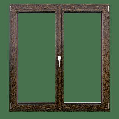 okno drewniane dwuskrzydłowe
