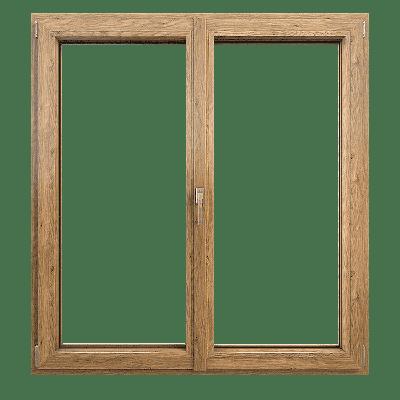 okno pcv dwuskrzydłowe